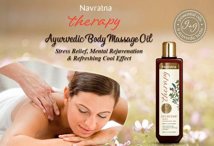 Navratna Therapy Ayurvedic Body Massage Oil